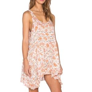 NWOT Free People voile and lace trapeze slip small